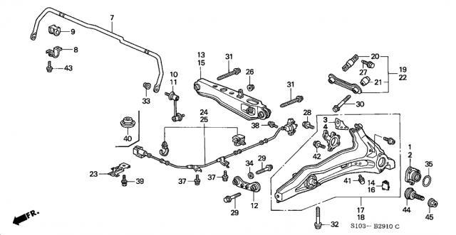 2001 honda accord front suspension diagram  honda  wiring