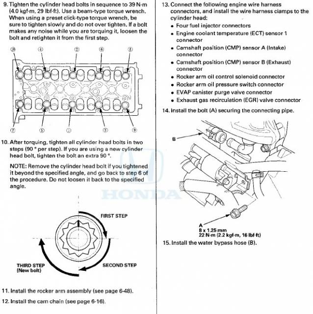 Civic Cylinder Head Removal: Can't Find Replacement Head Bolts