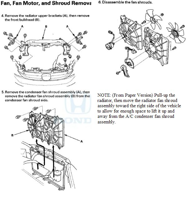 2007 2008 crv cooling and condensor fan removal procedure rh crvownersclub com