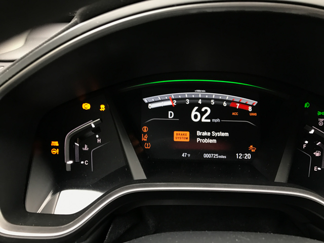 2017 CRV reporting problems with multiple electrical systems while driving