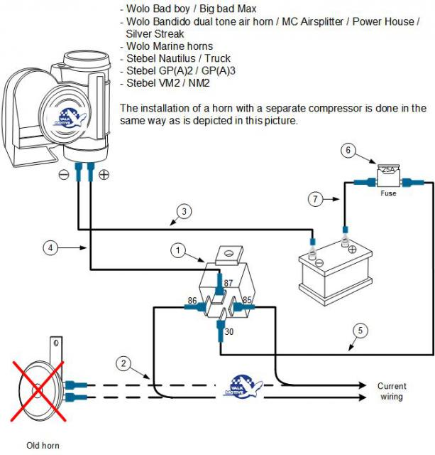 wolo horn wiring diagram 2016 stebel truck horn installation honda cr v owners club forums  honda cr v owners club forums