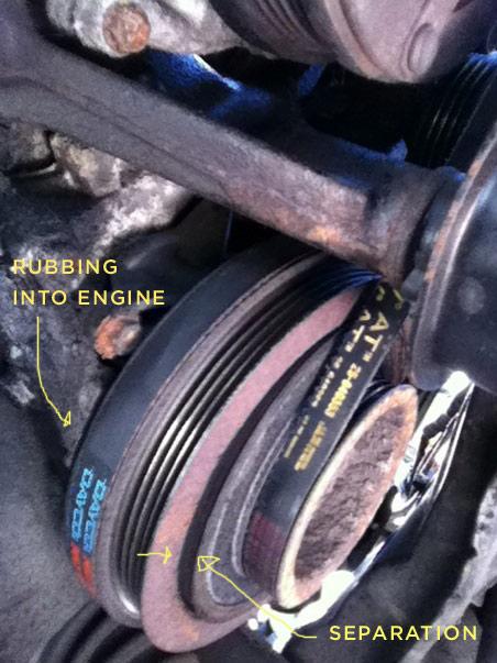 1997 Honda CRV Crankshaft Pulley Issue