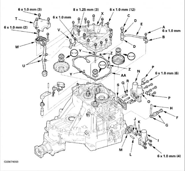 Honda Crv Transmission Diagram