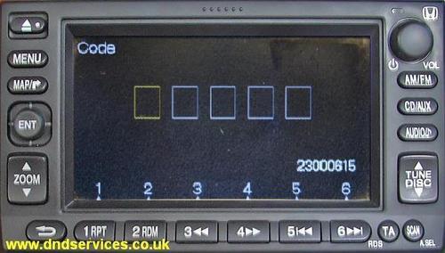Honda Crv Radio Code >> HELP Honda crv 2004 alpine satnav/radio/cd/dvd palyer installation