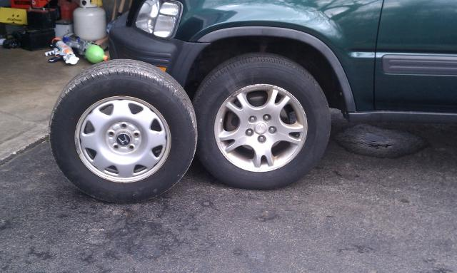 Green machine 2001 crv. Need bigger tires / rims on the cheap
