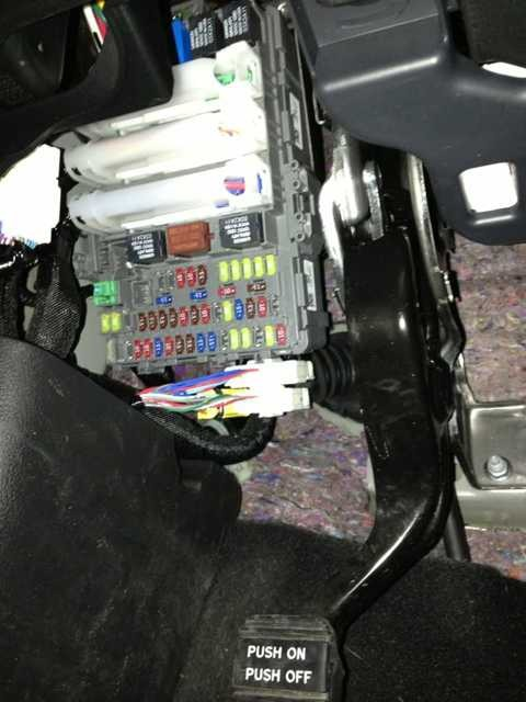 Cover panel under the steering wheel and fuse