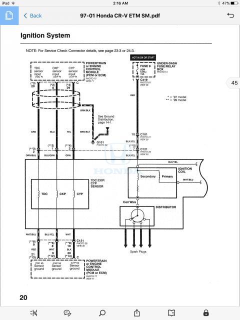 1998 honda crv no spark   Honda CR-V Owners Club Forums   Sparks 2003 Cr V Engine Diagram      CRV Owners Club