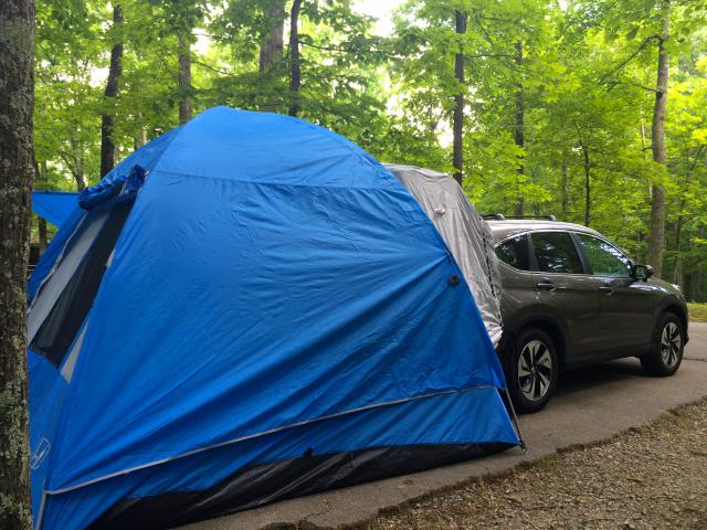 Attached Images & First use of CR-V tent