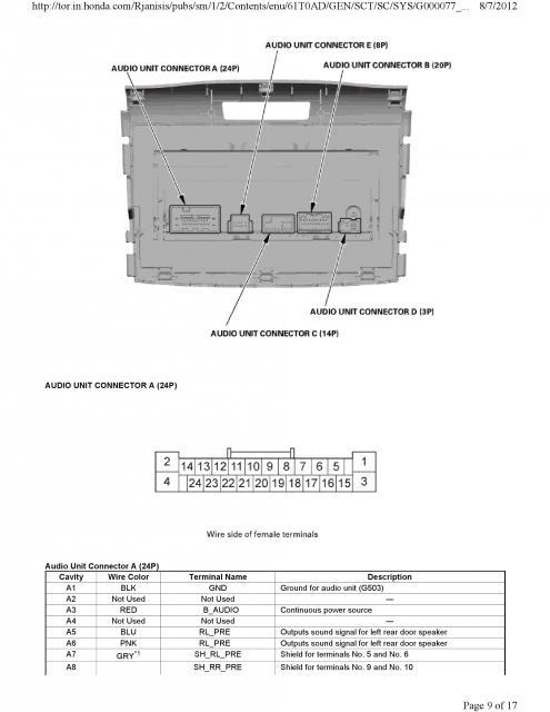 2014 honda crv radio wiring diagram 2014 image honda crv stereo wiring harness wiring diagram and hernes on 2014 honda crv radio wiring diagram