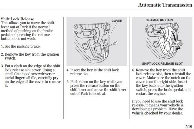 2003 Honda Pilot Shift Interlock Solenoid - Pilot From Infoimages.Com