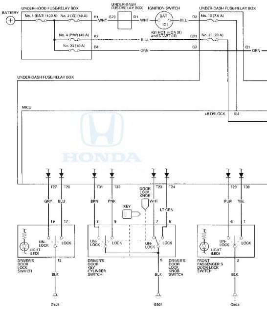 CRV Tailgate Wont Open From Outside - Honda 08 crv wiring diagram