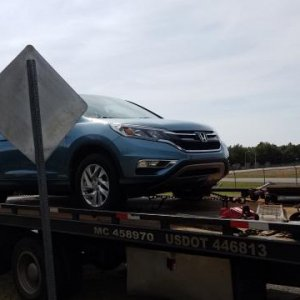 2015 HONDA CR V EX    Day 2 of ownership   Towed